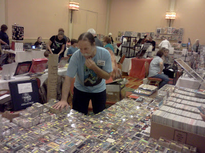 Chick Veditz mans his classic trading card collectibles table